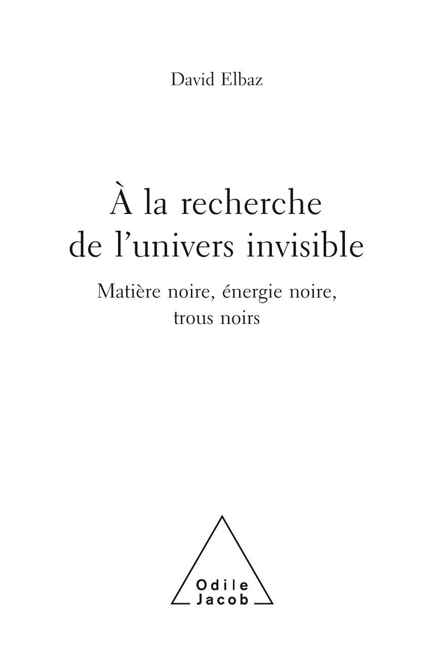 a la recherche de l univers invisible pdf
